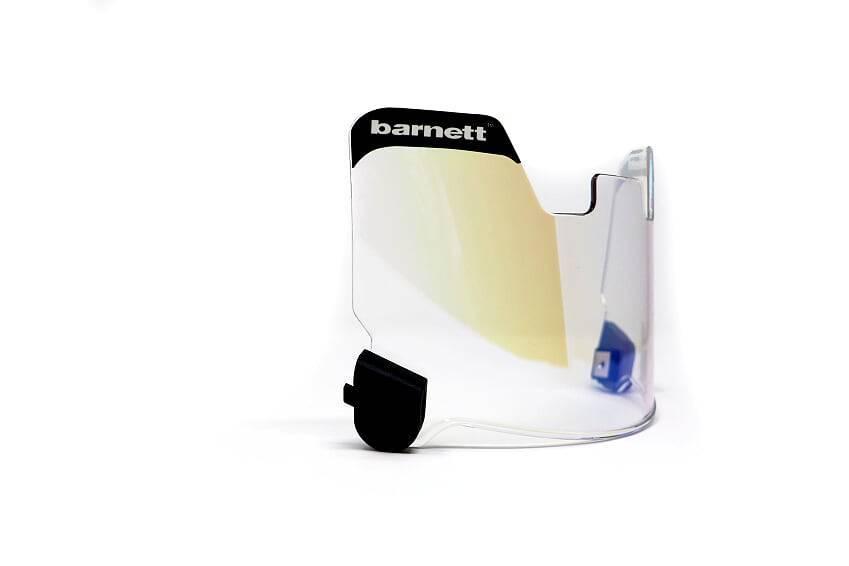 Barnett Football Eyeshield / Visor, protezione per gli occhi,  arancia