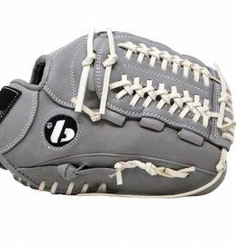 """Guanto da baseball FL-120, alta qualità, pelle, infield / outfield 11 """", grigio chiaro"""