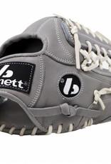 """Guanto da baseball FL-125, alta qualità, pelle, infield / outfield 11 """", grigio chiaro"""