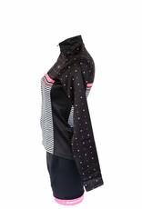 Tessile da bici - giacca a manica lunga, nero e rosa, giacca a vento