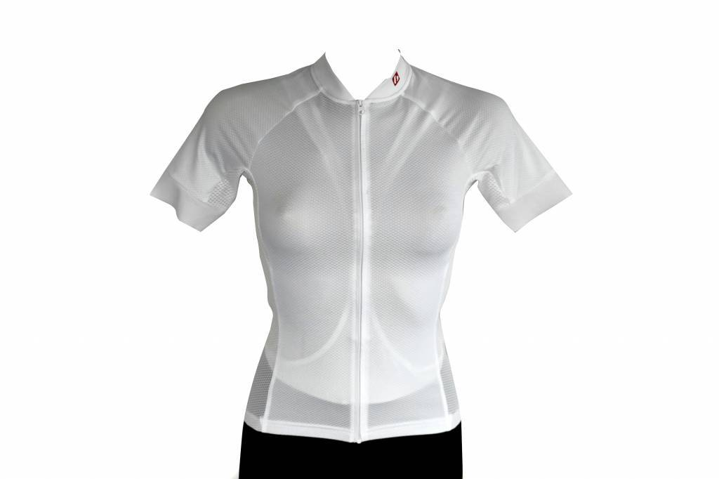 Tessile da bici - Maglia manica corta, bianca
