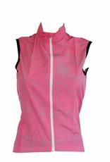 Tessile da bici - Giacca a vento senza maniche, rosa