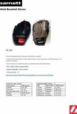 """GL-110 Guantone da baseball, competizione, infield, 11"""", Nero"""
