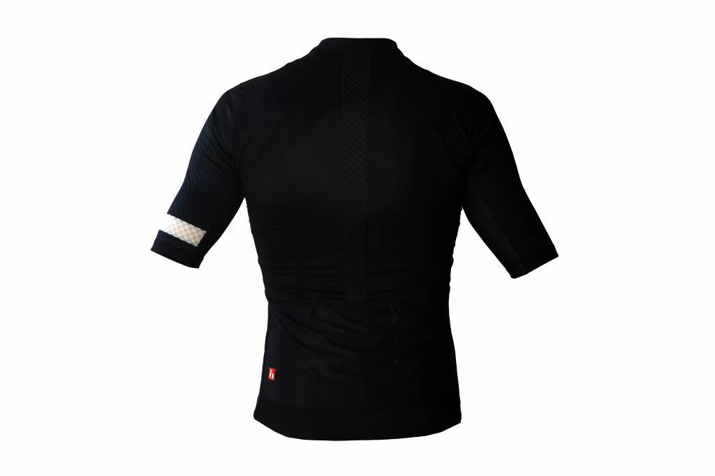 Bike textile-maglia a maniche corte, in bianco e nero