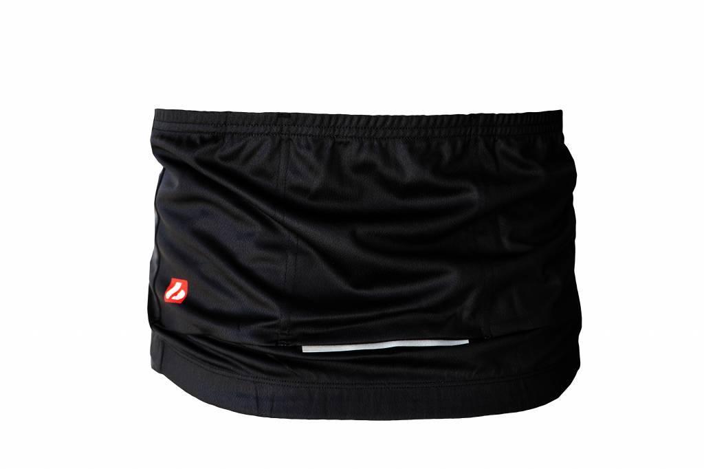 Bike textile-maglia a maniche lunghe, in bianco e nero