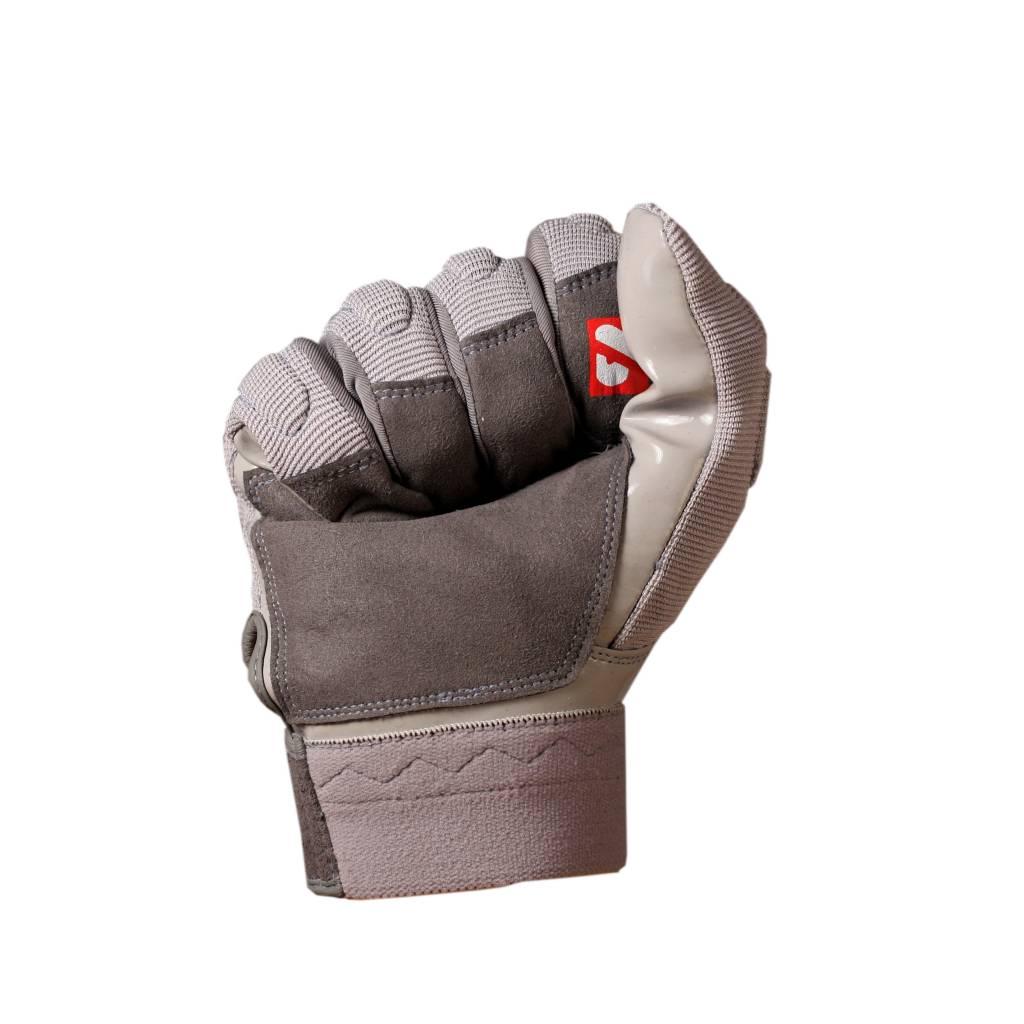 FLG-01 Guanti da football americano da lineman, grigio