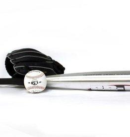 BGBA-1 Set da baseball principianti, senior – Mazza in alluminio, guantone, palla (BB-1 32'', JL-120 12'', TS-1 9'')