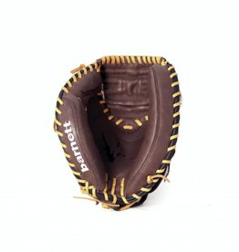"GL-202 Guantone da baseball, catcher, vera pelle, per adulto, 34"", Marrone"