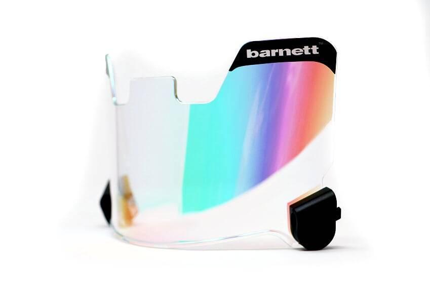barnett Barnett Football Eyeshield / Visor, protección ocular, verde