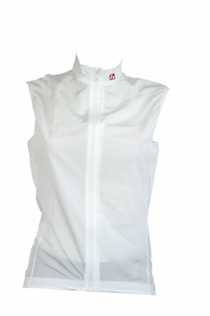 Textil bici - Chaleco cortaviento blanco