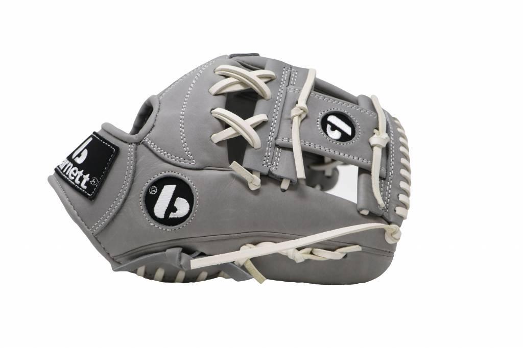 """FL-115 guante de cuero de alta calidad infield/outfield 11 """", gris claro"""