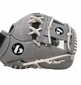"""FL-117 guante de béisbol y softbol de alta calidad infield/fastpitch 11.7"""", gris claro"""