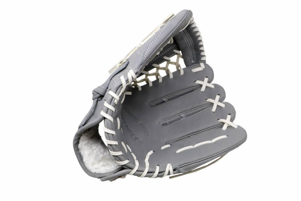 FL-125'' guante de béisbol cuero de alta calidad infield/outfield/pitcher, gris claro