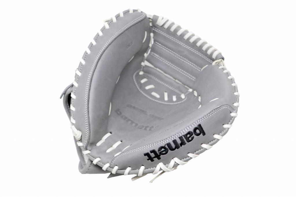 FL-203'' guante de softball cuero de alta calidad catcher, gris claro