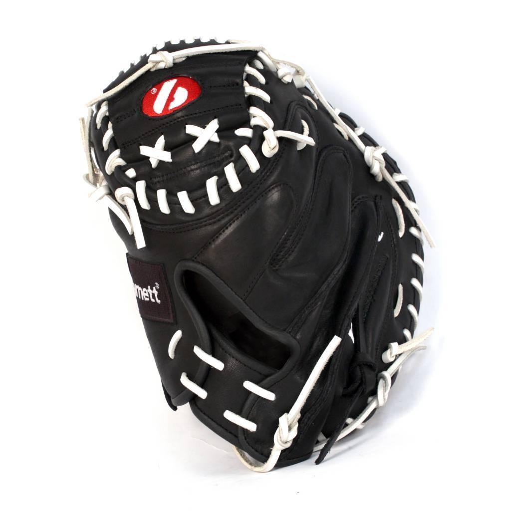 """barnett GL-201 Guante de béisbol, cuero, catcher, adulto 34"""", negro"""