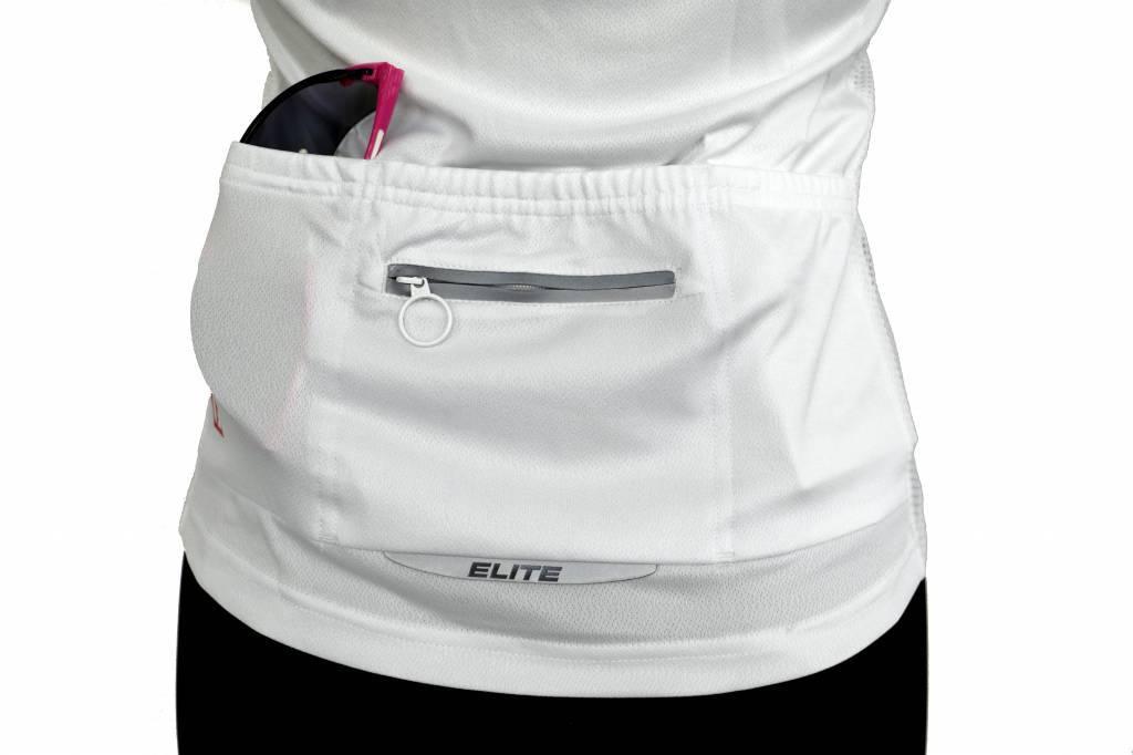 barnett Bicicleta textil - manga corta jersey, blanco