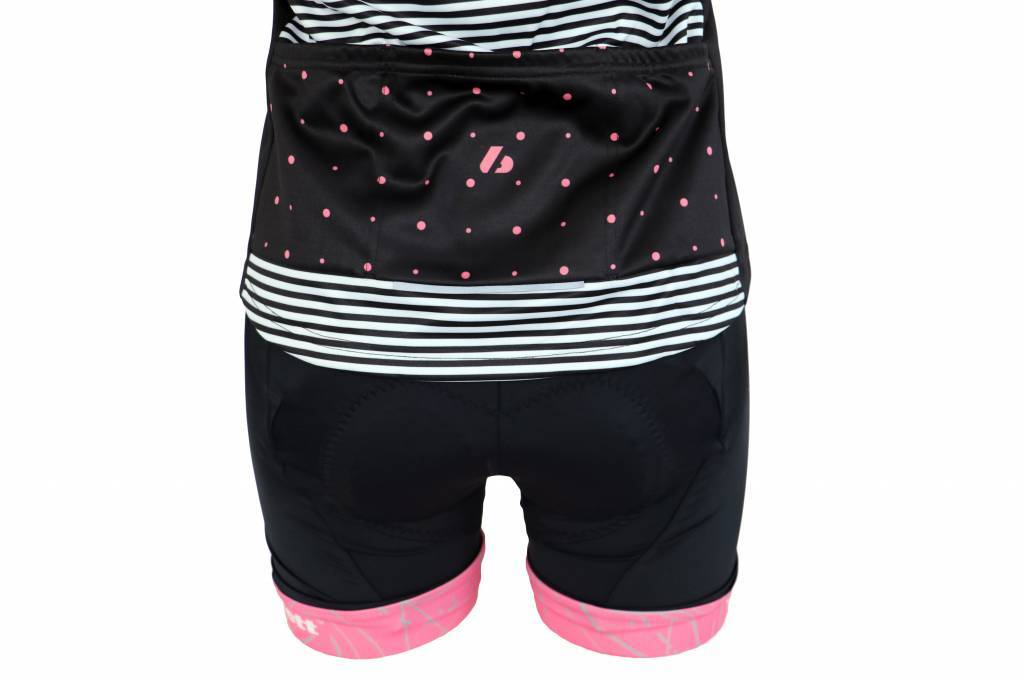 Barnett Bicicletas textiles: chaqueta de manga larga, negro y rosa, cortaviento