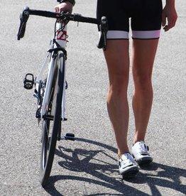 barnett Bicicleta textil - pantalones cortos de ciclismo en blanco y negro