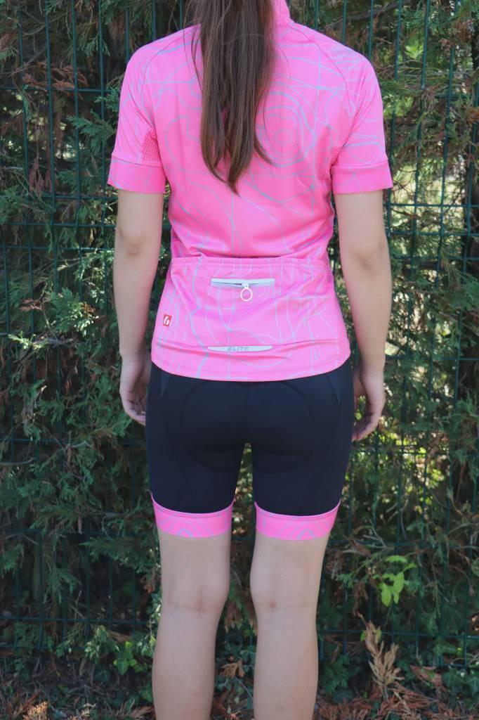 barnett Bicicleta textil - pantalones cortos de ciclismo negro y rosa