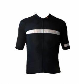 Bici textil-jersey corto con ejercicio, blanco y negro