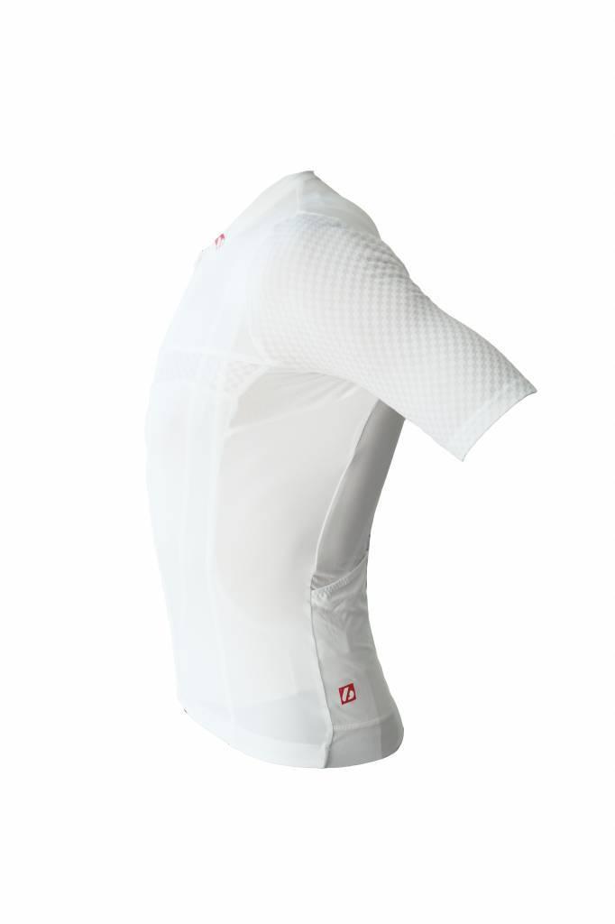 Bici textil-jersey corto con ejercicio, blanco
