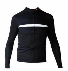 Bici textil-Jersey largo con ejercicio, blanco y negro