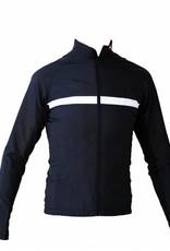 Moto textil-chaqueta de manga larga, rompevientos en blanco y negro