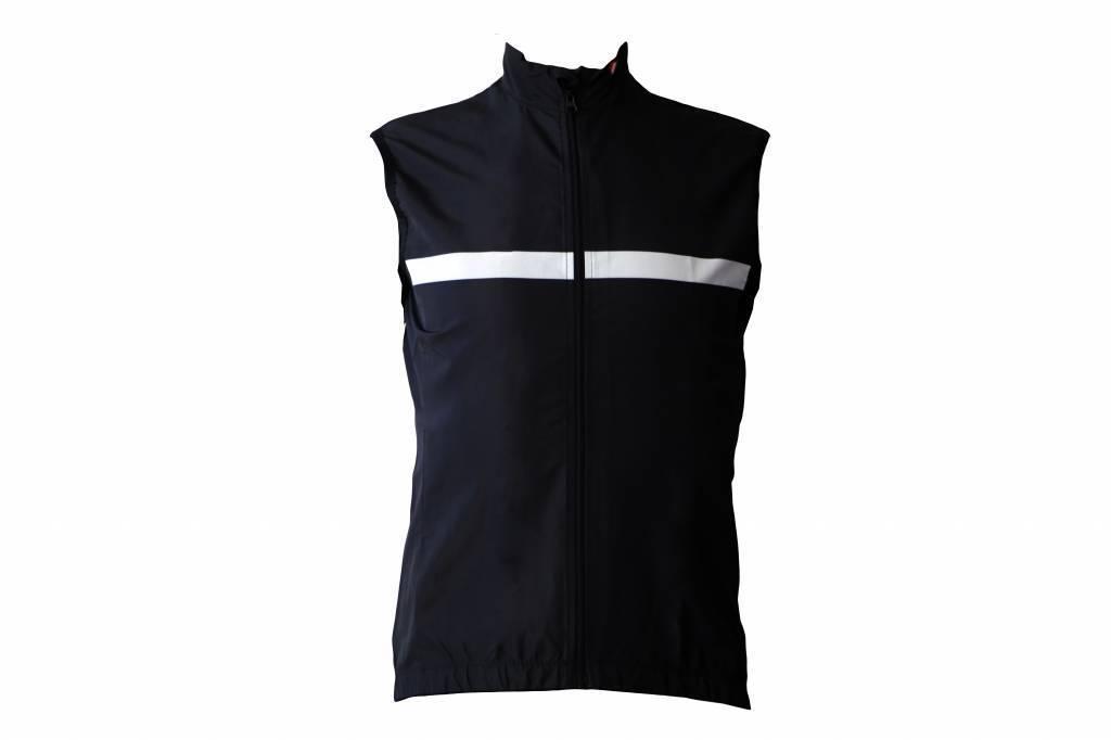 Chaleco textil Bicicleta sin ejercicio sin ejercicio en blanco y negro