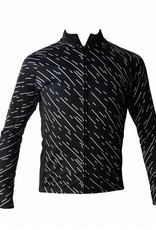 Bike textil-chaqueta de manga larga, rompevientos negro