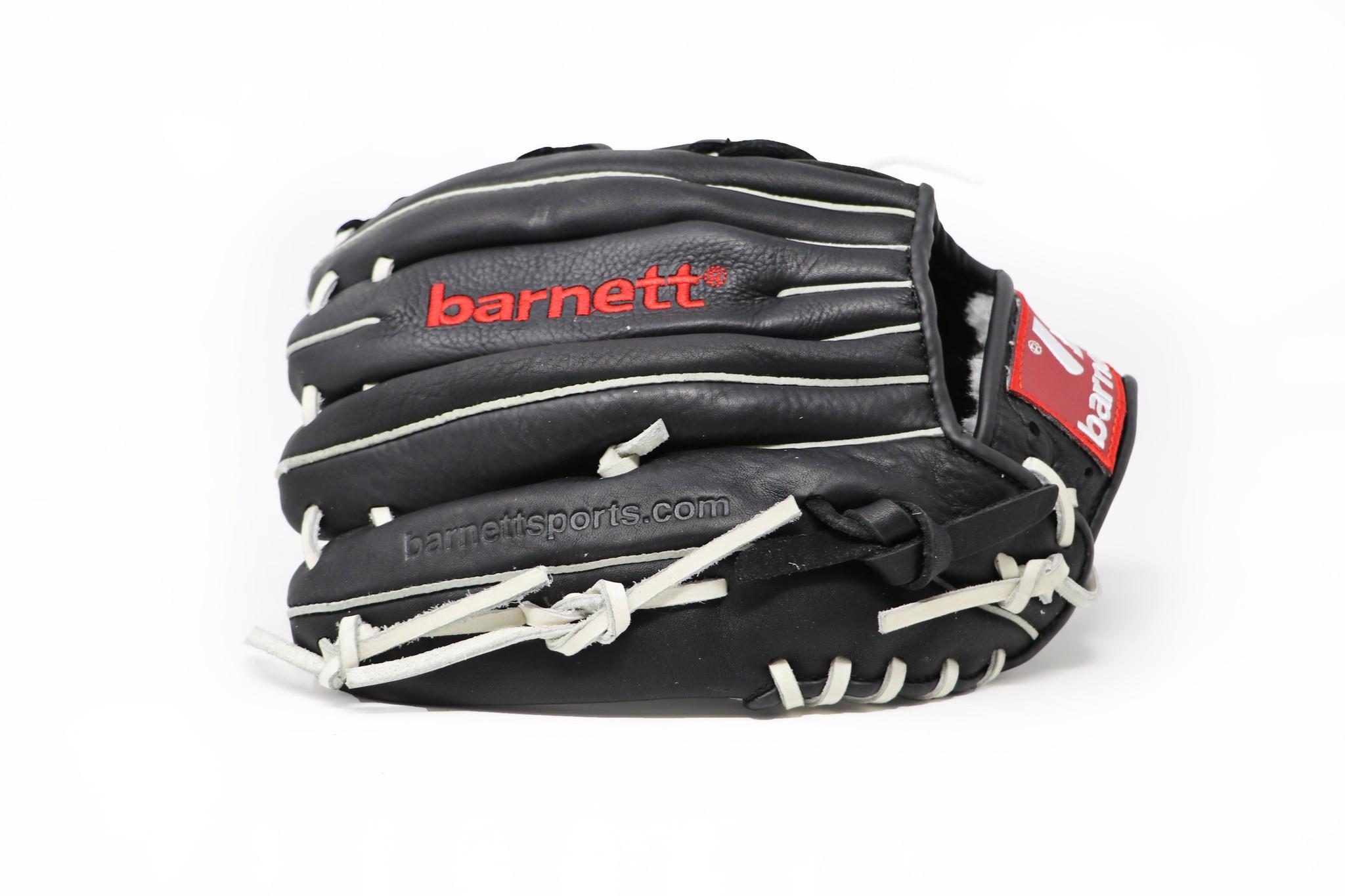"""barnett GL-120 Guante de beisbol de cuero de competición, outfield 12"""", negro"""