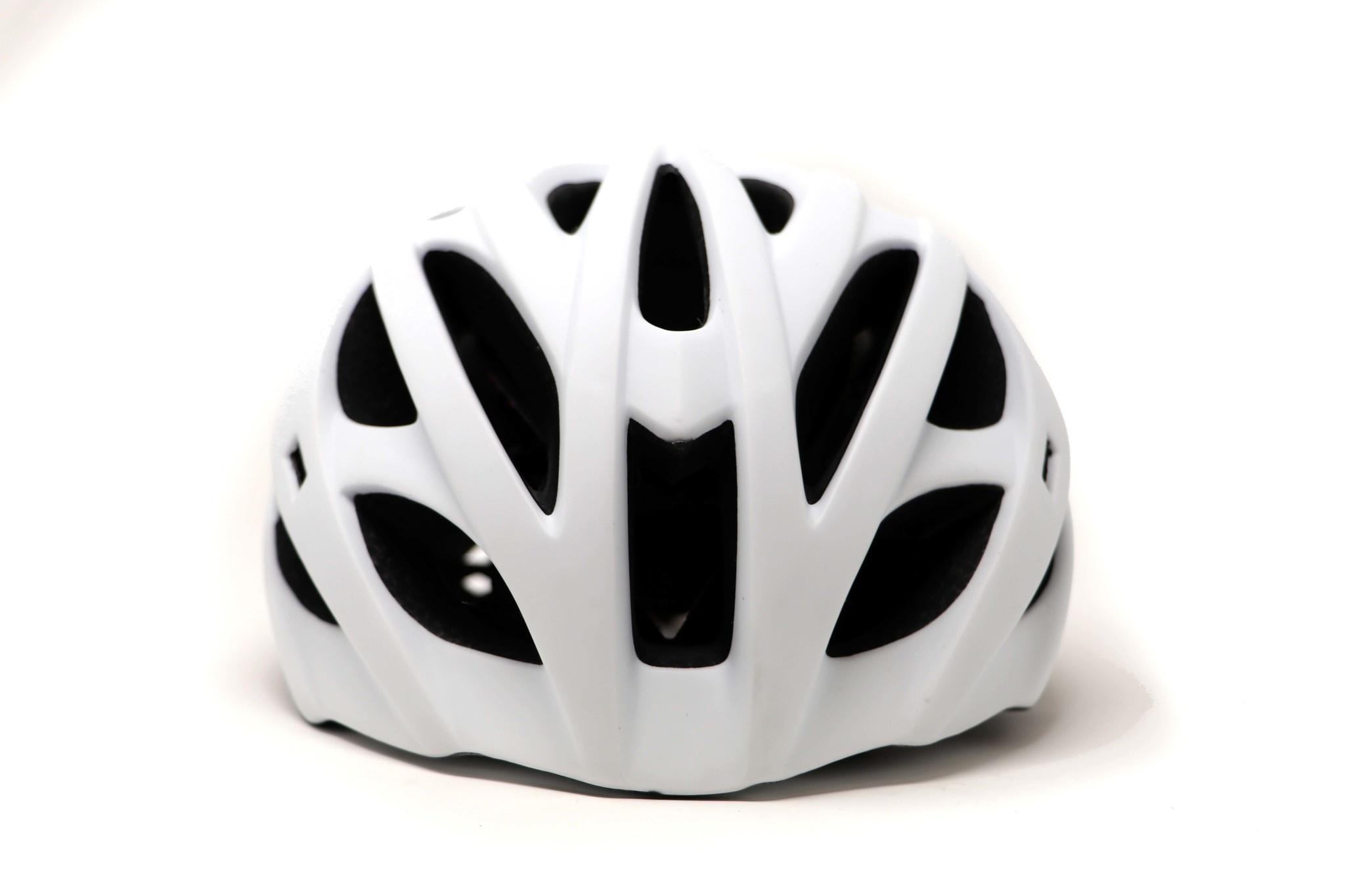 H93 Casco de Bicicleta y Roller Ski, BLANCO