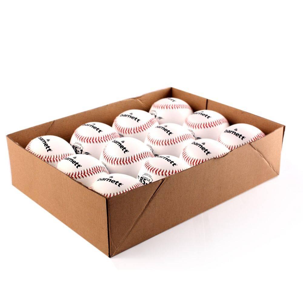 barnett BS-1 Pelota de béisbol, 9'', blanca, 1 docena