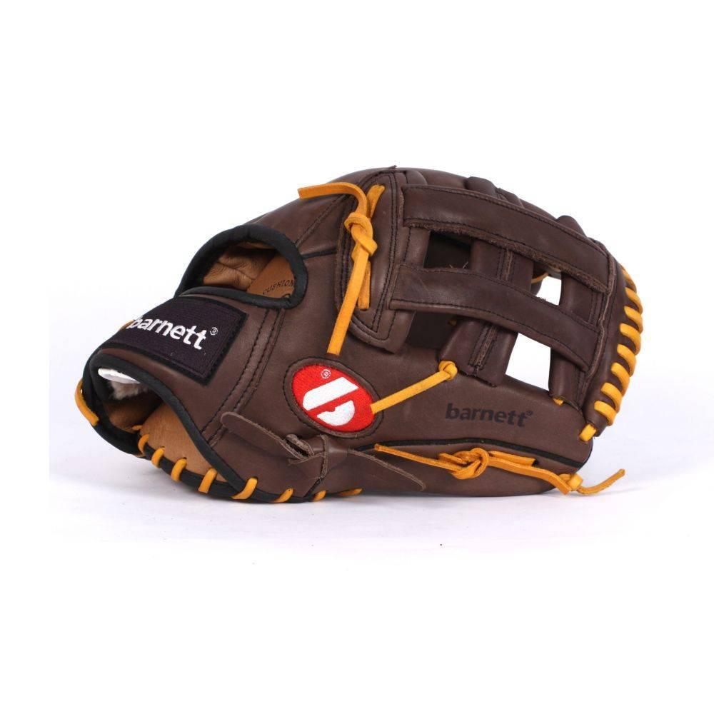"""barnett GL-130 Guante de béisbol de competición, cuero, outfield 13"""", marrón"""