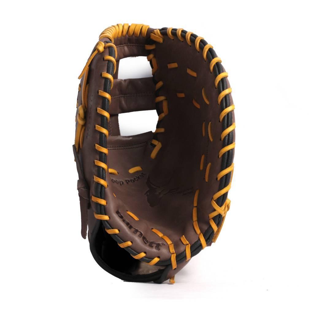 """barnett GL-301 Guante de béisbol para competición,cuero, de 1° base, adulto 31"""", marrón"""