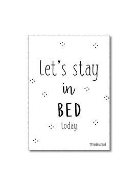 Poster A4 Stay in bed