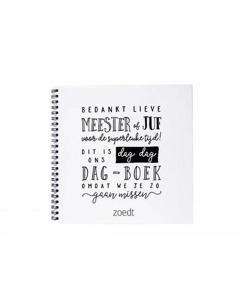 dag dagboekje - afscheidsboekje voor meester en juf