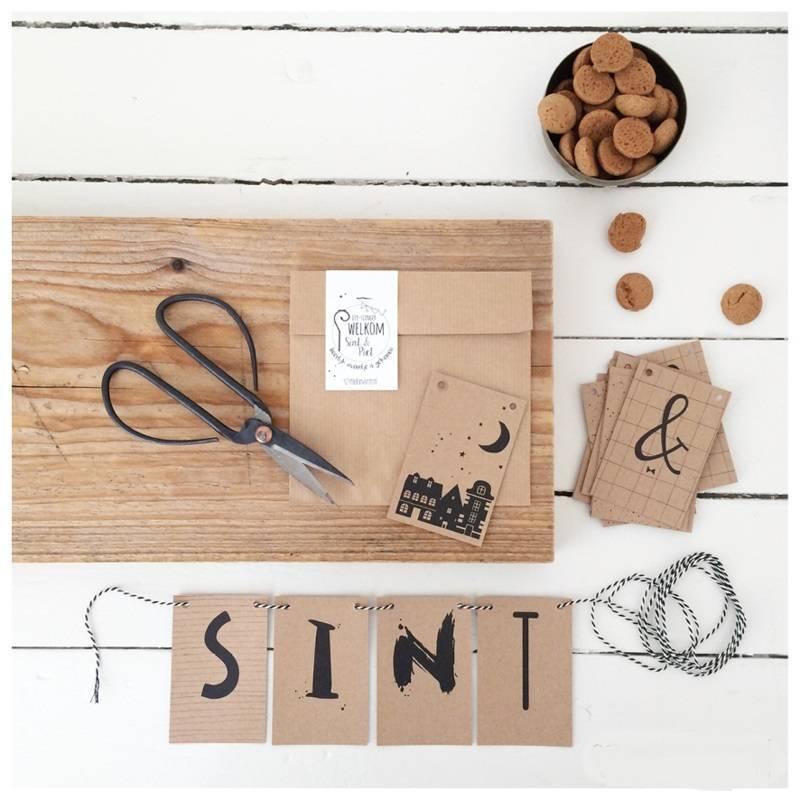 DIY letterslinger || Welkom Sint & Piet