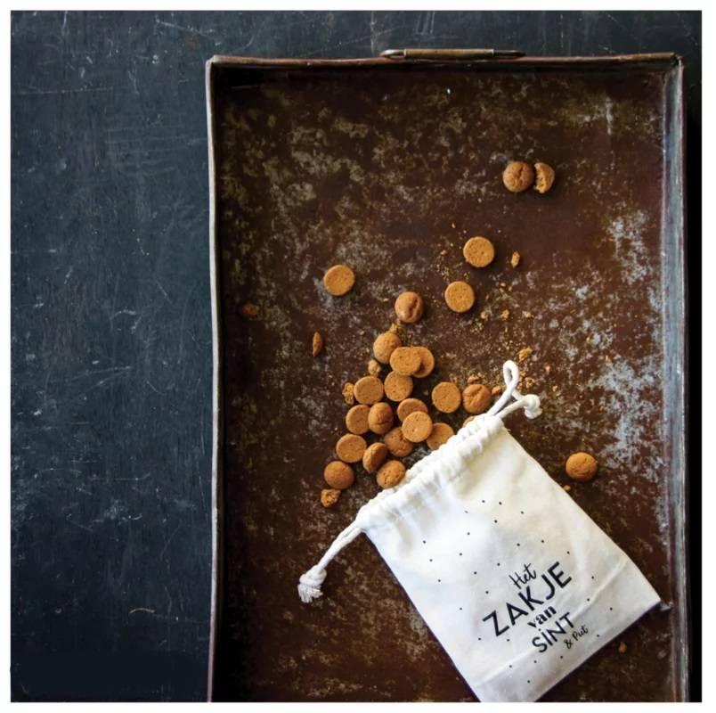 Het zakje van Sint & Piet || stoffen zakje