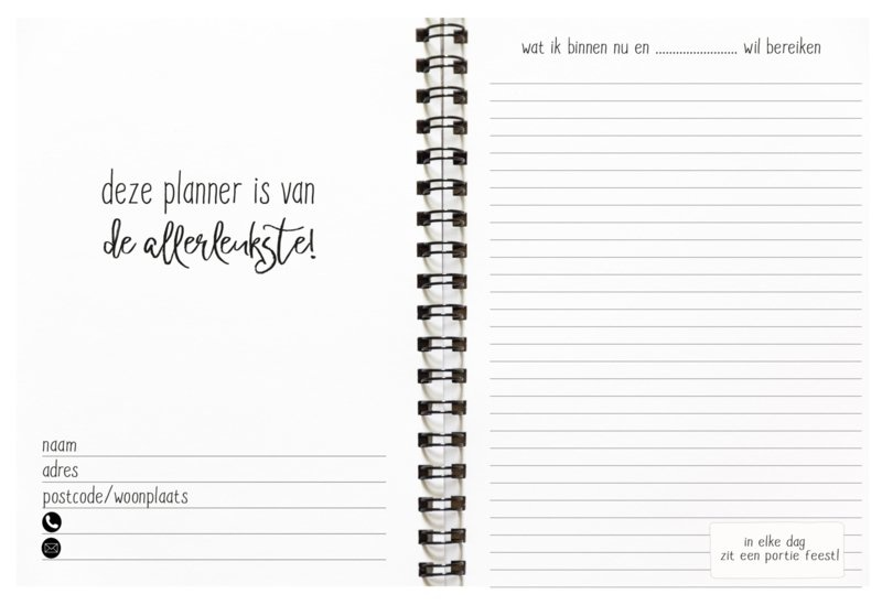 Planboek voor je doelen en do's