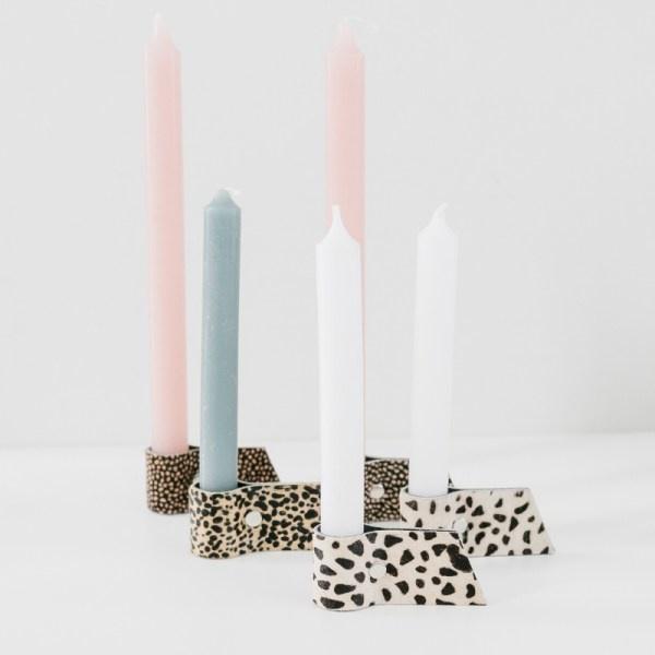 Kaarsenhouders drie  verschillende designs