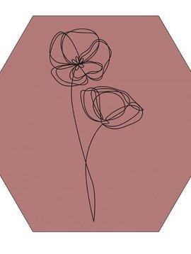 Label-R Hexagon viooltje