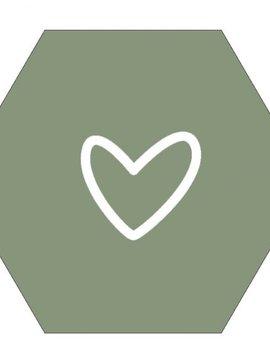 Label-R Hexagon hart