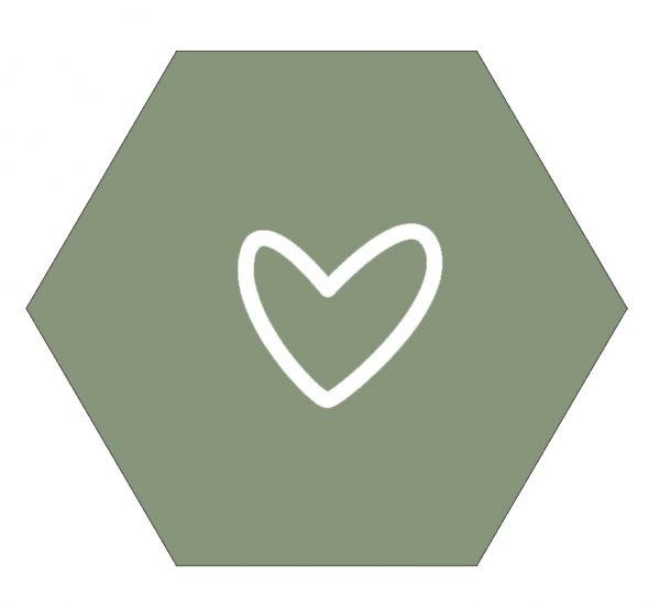 Hexagon hart groen