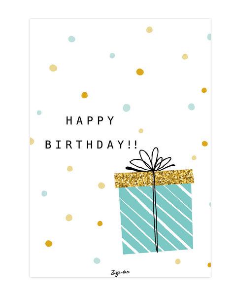 zusje-van Kaart Happy Birthday