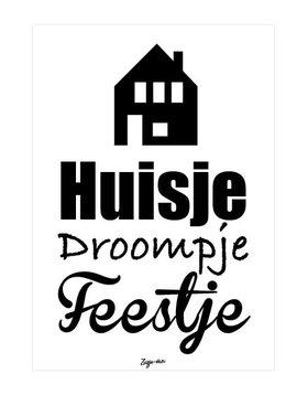 zusje-van Kaart Huisje droompje feestje