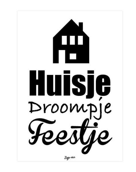 zusje-van Kaaart Husje droompje feestje