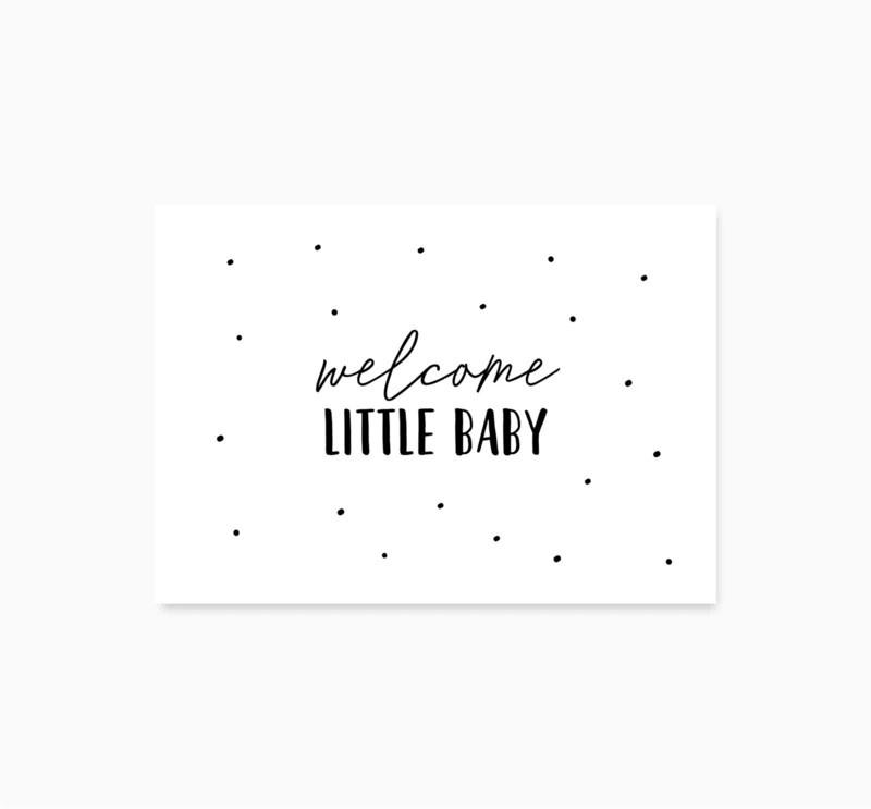 Studio Hoeked Kaart Welcome little baby