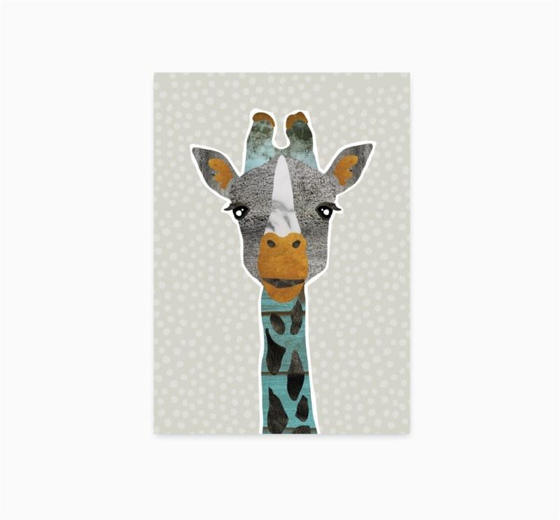 Studio Hoeked Kaart Giraffe
