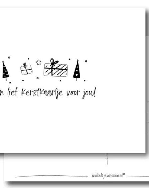 Winkeltjevananne Kerstkaart een lief kerstkaartje voor jou!