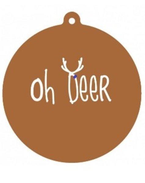 Label-R Kersthanger Oh Deer
